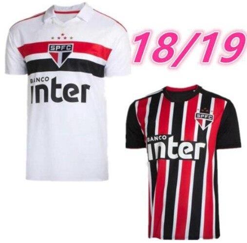 6a8b60978 18 19 Sao Paulo shirt black away red TOP 2018 2019 ARBOLEDA REINALDO Brazil  Club Home white men shirt EVERTON DIEGO