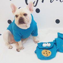 Хлопок Французский бульдог мультфильм стиль толстовки собака одежда для маленьких Одежда для собак Чихуахуа Йоркширский свитер костюм для Мопса
