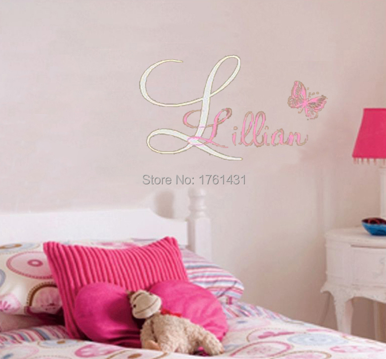 Personalized Name Stickers Monogram Wall Decals Vinyl Stickers - Monogram wall decals cheap