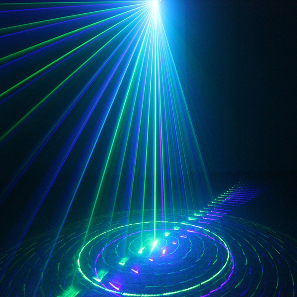 Chims DJ Laser Lighting 3 Lens 9 Pattern Club GB Laser Blue LED Stage Home Party Professional Projector Xmas Light Disco L09GB the latest 2lens 40 pattern laser light for dj disco club party stage lighting effect page 2