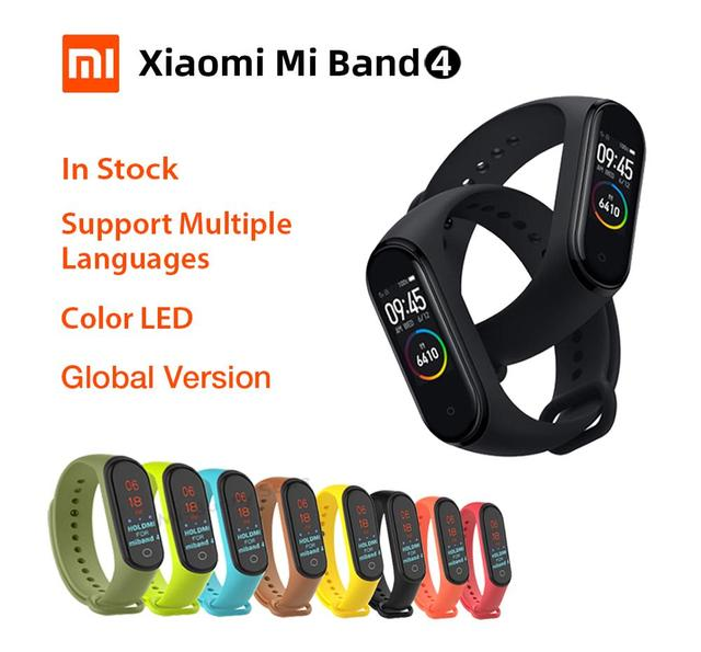 הכי חדש חכם שעון שיאו mi mi Band 4 כושר צמיד mi band 4 כושר Tracker פדומטר Bluetooth 5.0 חכם להקה xio mi שעון