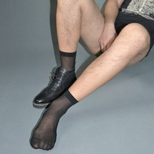 SORRYNAM 20 Pairs/Lot Male Stockings Nylon Transparent Silk Sock ultra-thin Sexy Sheer Socks for Formal dress Suit
