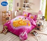 Diamond Princess Bedding Girls comforters Cotton Fabric Bed Sheet Duvet Cover Set Single Twin Queen Disney Character Dark Pink