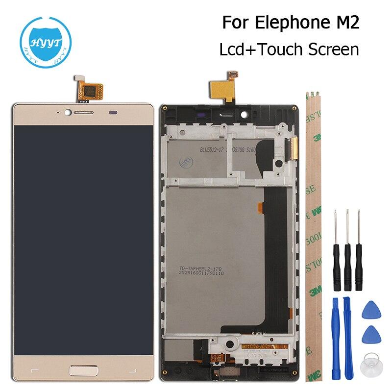 imágenes para Para Elephone M2 MTK6753 Octa Core Pantalla LCD y la Asamblea de Pantalla Táctil Con Marco Original de Reparación de Piezas de 5.5 Pulgadas + herramientas + Adhesivo