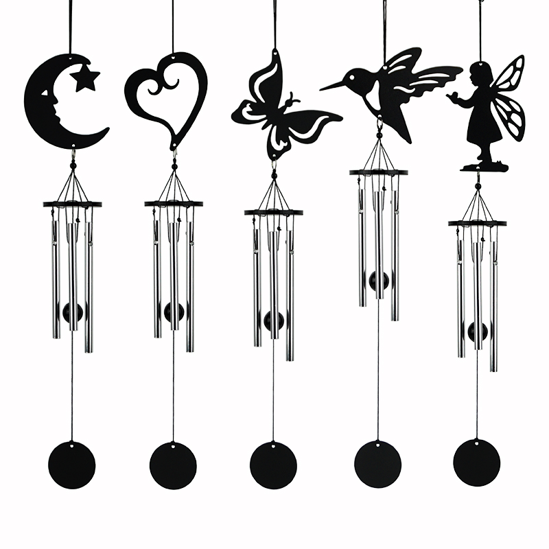Qianyun Home & Garden Decoration Crafts Wind Chimes & Hanging Decorations Door Wall Hanging Home Decor Metal Bells Creative Gift(China)