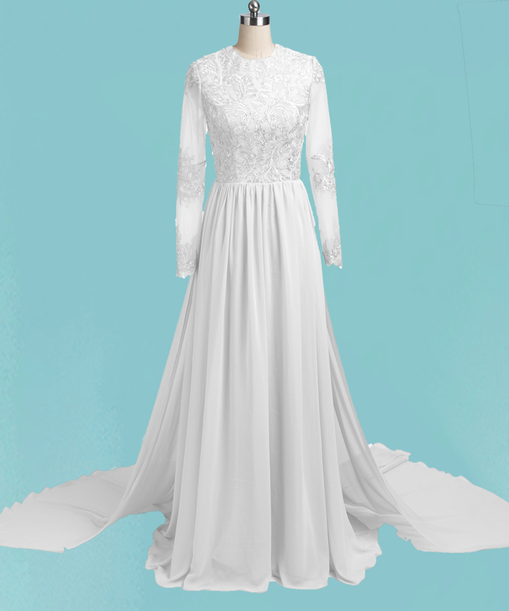 Discount Plus Size Colored Country Wedding Dresses Long: Country Wedding Dresses 2017 Long Sleeves Romantic