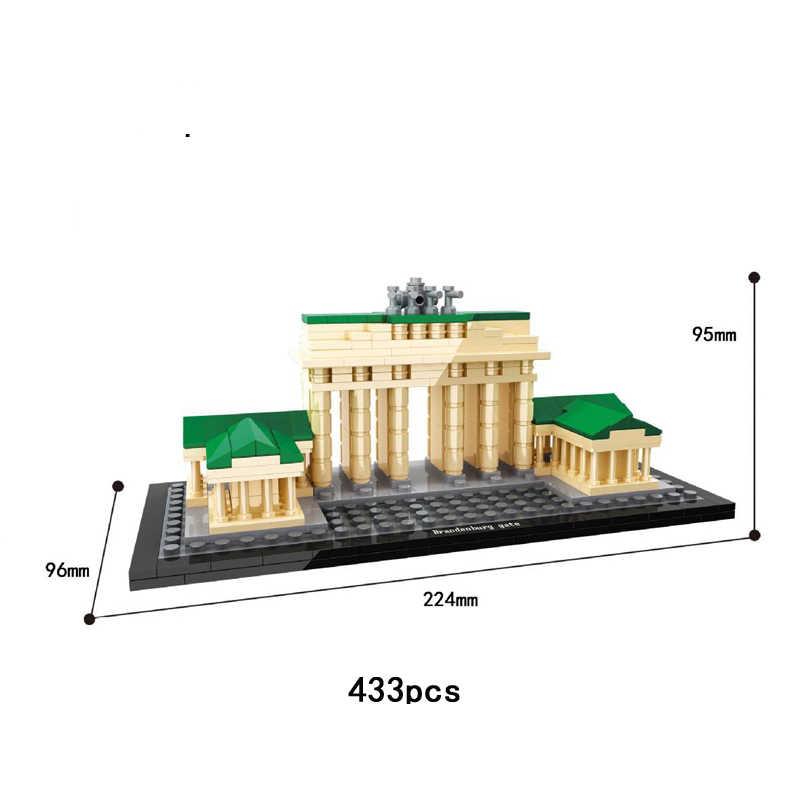 World famous Historical Architecture Brandenburg Gate Berlin Germany moc building block model bricks education toys collection