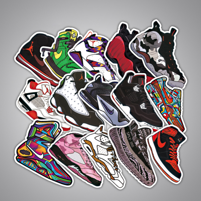 107Pcs Hot Sale Sticker Funny Fashion Graffiti Sticker Shoes Small Stickers Anime Laptop Skateboard Notebook Decal