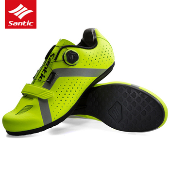 Santic Respirável Auto-Bloqueio Sapatos de Ciclismo de Estrada Homens Sapatos Ultraleve Zapatos Atlético Tênis de Corrida Da Bicicleta Da Bicicleta Ciclismo