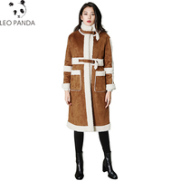 New Women Winter Long Coat Lambswool Suede Leather Thicken Coat Single Breasted Jacket Female Faux Suede Long Lambs Wool Parkas