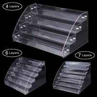 1 To 7 Tier Acrylic Nail Polish Rack Tabletop Display Stand Clear Lipstick Holder Essential Oils Shelf Makeup Storage Organizer
