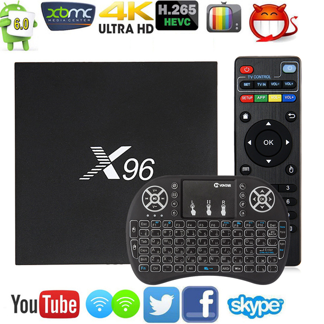 Hot Original X96 Smart TV Box  Amlogic S905X Quad Core Android 6.0 TV Box WIFI HDMI 4K*2K HD Set Top box Media Player pk A95X