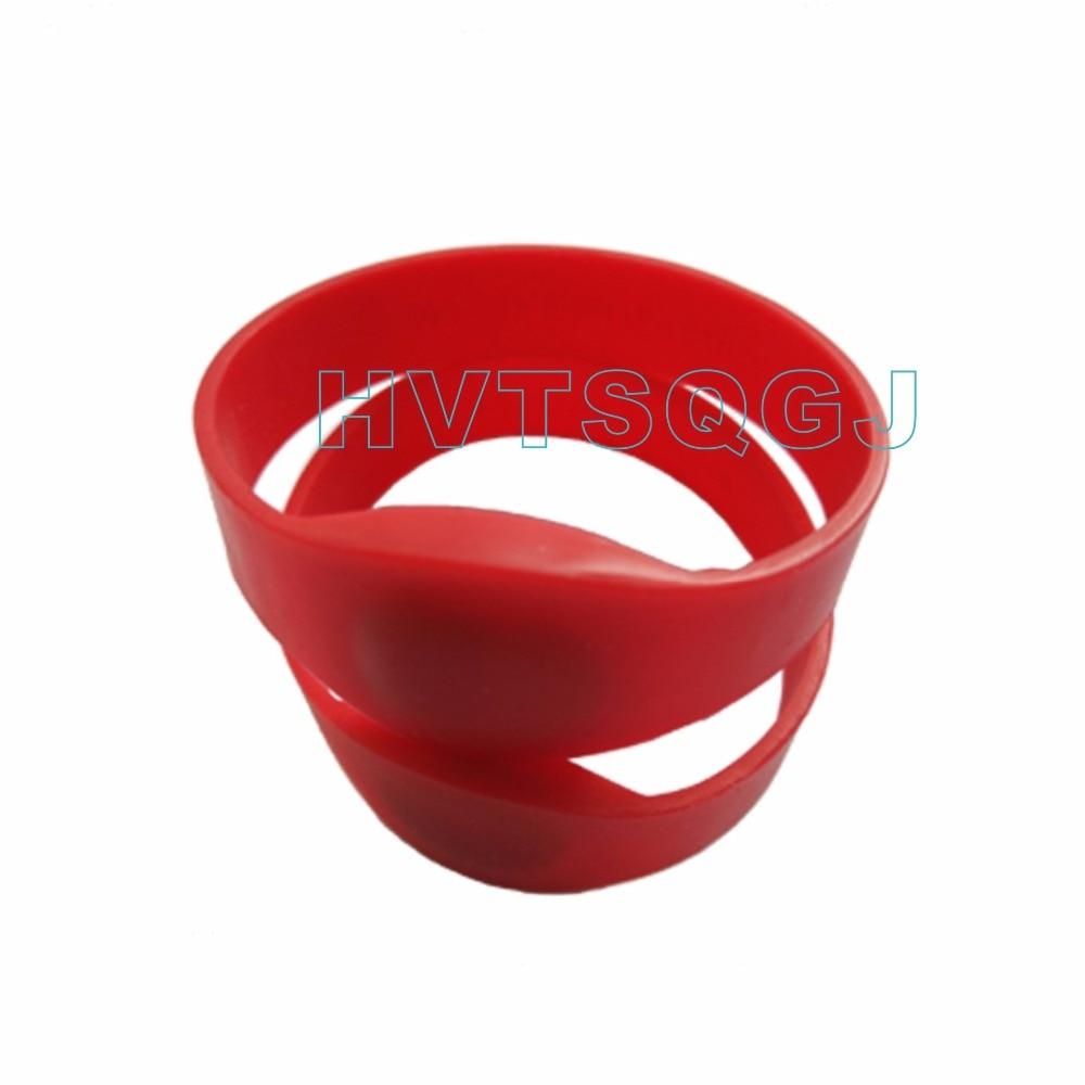 Shipping + Wholesale + 50 Pz Impermeabile In Silicone Rfid Tag Tk4100 Braccialetto Rosso