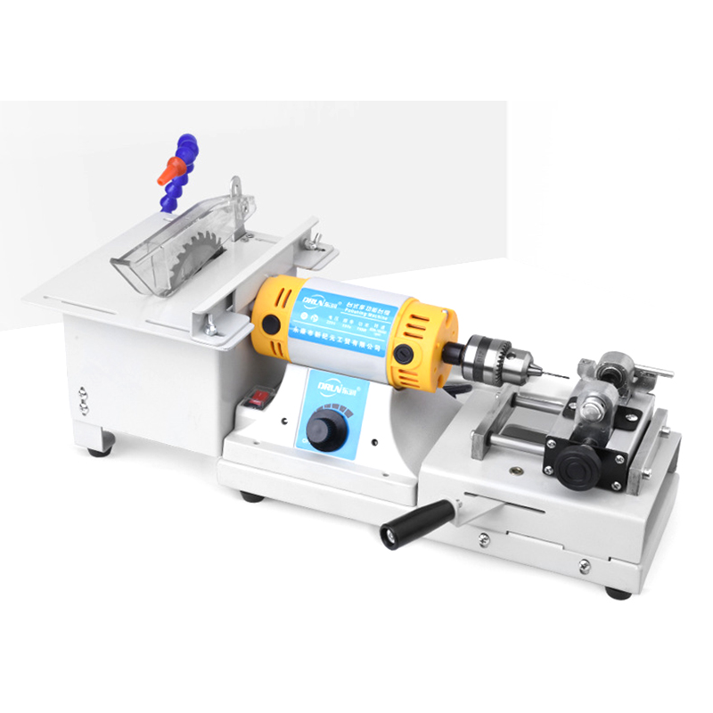 Multifunction Bench Grinder Drilling Machine Polisher Cutting Grinding Carving Machine Bench Saw For Jade Root Wood