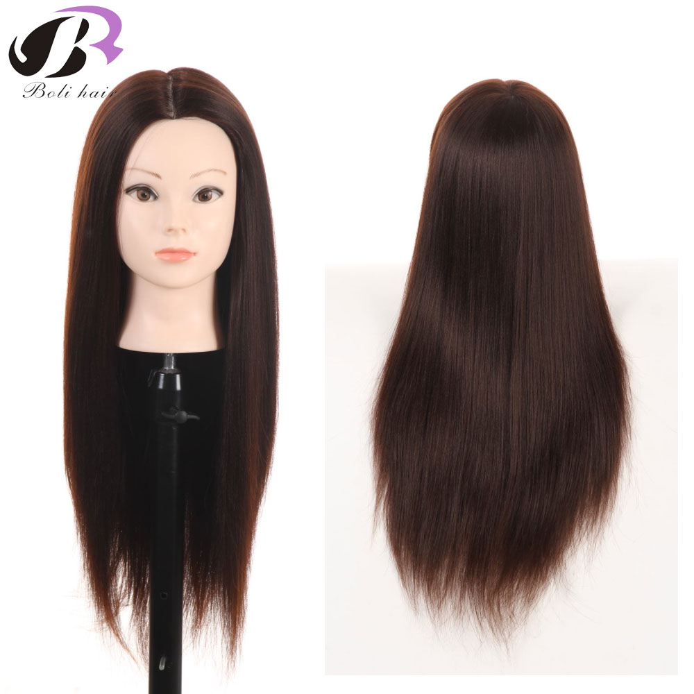 """26"""" Professional Styling head With Brown Hair Models Made Wigs Female Mannequin Head Display Training Head For Hairdressers"""