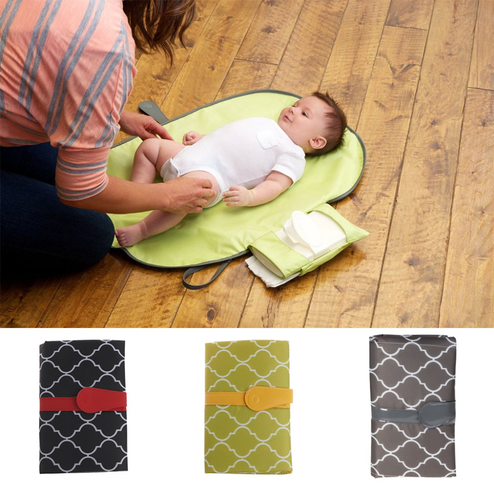 MLMERY New 1Pc Baby Nappy Diaper Changing Change Clutch Mat Foldable Pad Handbag Wallet Style Baby Changing Pads Covers
