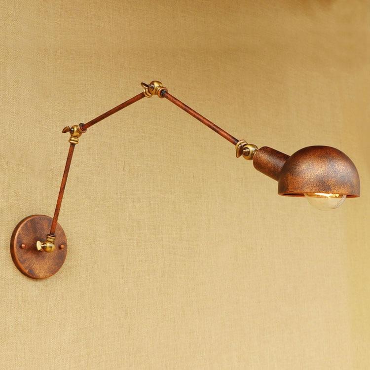 Rustikální Loft Sryle průmyslové nástěnné svítidlo Wandlampen Svítidlo s dlouhým ramenem Vintage Nástěnné svítidlo Lampara De Pared