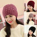 Women New Design Caps Twist Pattern Women Winter Hat Knitted Sweater Fashion beanie Hats For Women  colors gorros