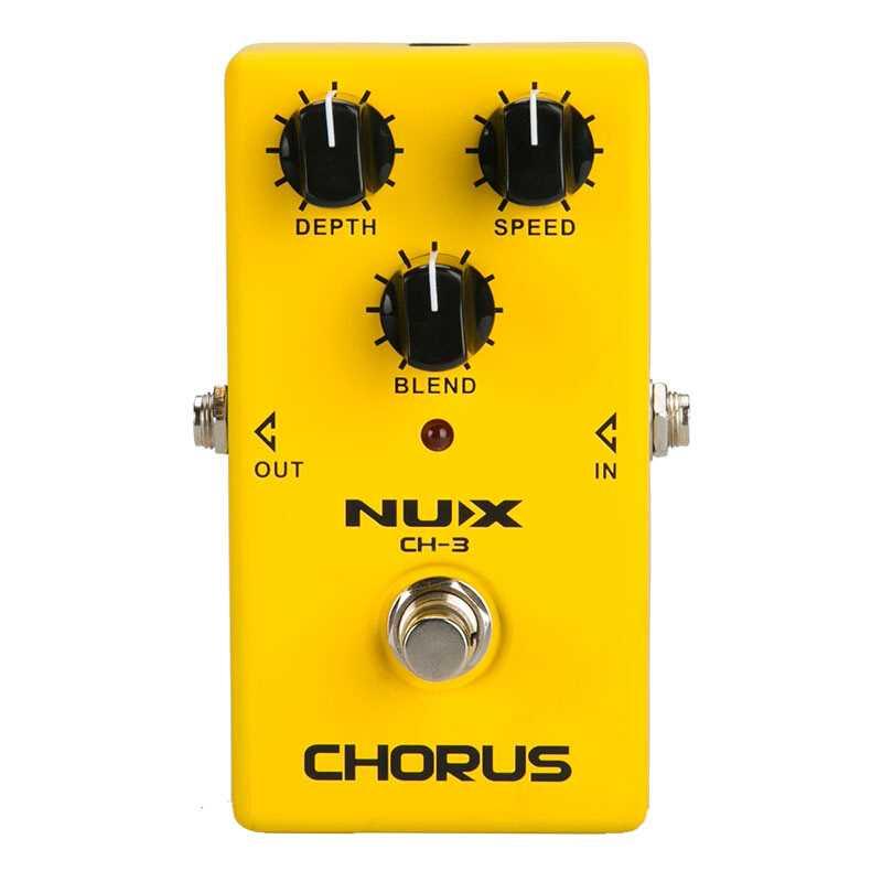 NUX CH-3 pédale d'effet guitare électrique Chorus faible bruit BBD True dérivation pédale d'effet Guitarra de haute qualité