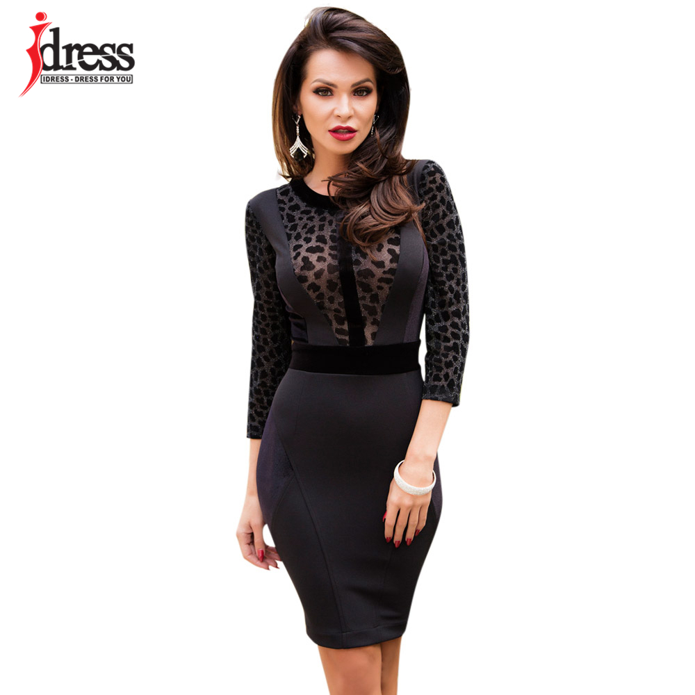 IDress 2018 Design Party Sheath Dress Leopard Print ...