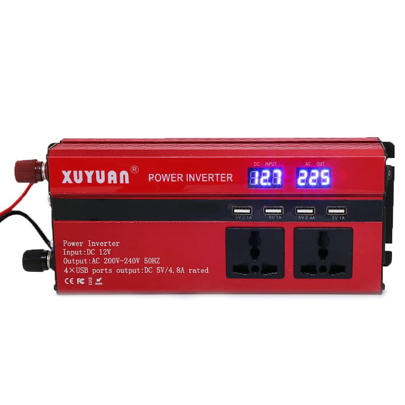 4000 W onduleur à onde sinusoïdale LED 4 USB DC12/24 V à AC110V/220 V convertir