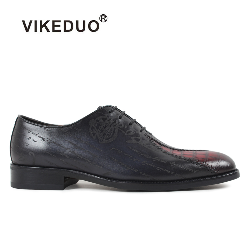 2018 Vikeduo Vintage Mens Oxford Shoes Custom Business Office Dress Formal 100% Genuine Leather High Quality Original Design 2017 vintage retro custom men flat hot sale real mens oxford shoes dress wedding party genuine leather shoes original design