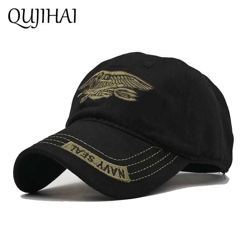 QUJIHAI NAVY SEAL Army   Baseball     Cap   Snapback Men Camouflage Fitted Hat Cotton Gorras Hombre Bone Masculino Casquette Homme