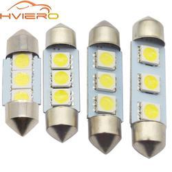 Белый автомобиль светодиодные C5W 5050 3 Smd 3Smd 31 мм 36 мм 39 мм 41mm Dc 12 v лампа для внутреннего корпуса двери свет Бесплатная свет лампы лампочка