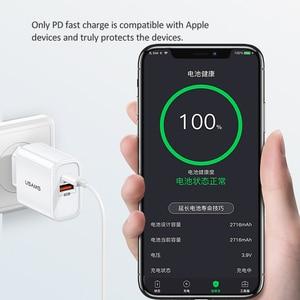 Image 4 - Cargador USB USAMS de carga rápida QC3.0 PD3.0 para iPhone X EU US enchufe cargador rápido para teléfono móvil para Samsung carga de pared USB única
