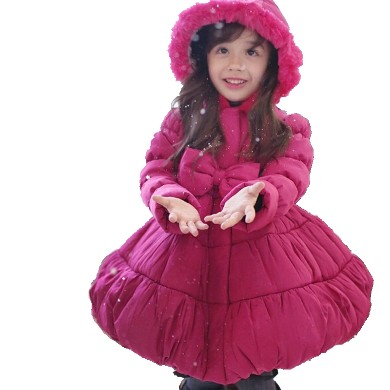 Baby Girls Clothes Girls Winter Coat Warm Outwear Snow Outfits Hooded Kids Clothes Children Clothing Down Coat Christmas christmas horn button hooded handkerchief coat