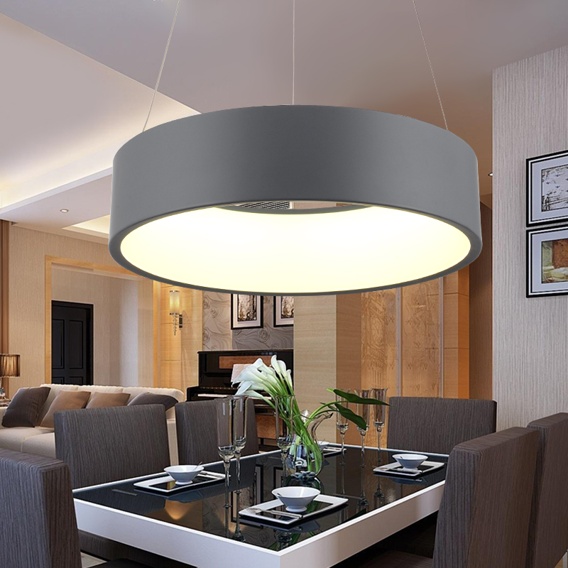 Modern D450mm Round Circle Hanging Lamp 85 265V 28W Led Dining Room Kitchen Pendant Light Household Suspend Lighting