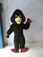 ลิงและลิงมิ่งขวัญเครื่องแต่งกายสีดำยาวขน