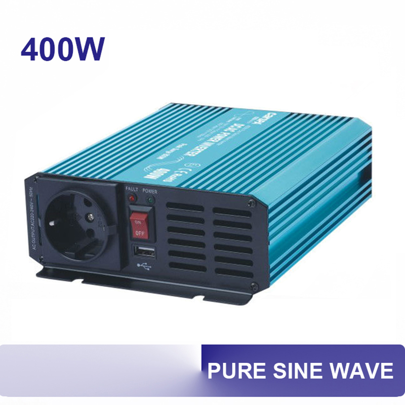 400W dc ac 12v 24v to 110v 220v 230v pure sine power inverter 50/60hz universal inverter 400watt