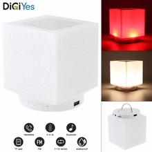 Smart LED Bluetooth Speaker Water Cube Night Music Lamp Colorful Mood Plug-in Card Speaker for Night Camp / Illumination / Music moyes j night music