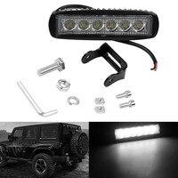 Car Truck 18W 6 SMD LED Work Light Bar Reversing Flood Worklight Lamp For Jeep Boat