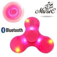 Fidget Spinner LED Bluetooth Speaker Hand Spinner Tri Spinning Top  Finger Spiner Toys For Children Spynner Handspinner Spinners