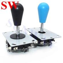 2Pcs Sanwa joystick Oval ball top Arcade Sanwa joystick mit mikro 4/8 Weg Joystick Fighting Stick Teile für Spiel arcade