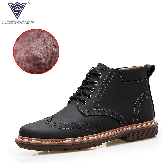 SCAPR BARAT Fashion Pria Boots Zapatos Hombre Pria Musim Dingin Hangat  Sepatu 42fe7f6e22