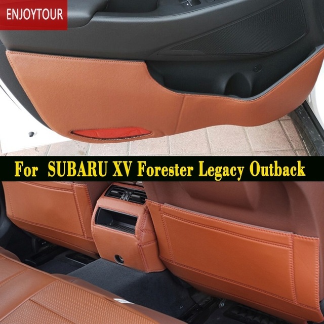 Car pads front rear door Seat Anti-kick mat Accessories For SUBARU Forester Legacy Outback & Car pads front rear door Seat Anti kick mat Accessories For SUBARU ...