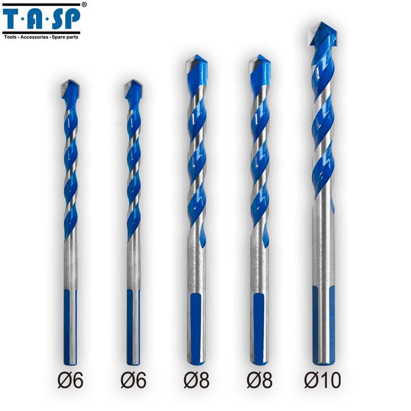 TASP Multi Purpose Construction Drill Bit Set Carbide Tip For Masonry Tile Wood Metal Drilling -MDBK021