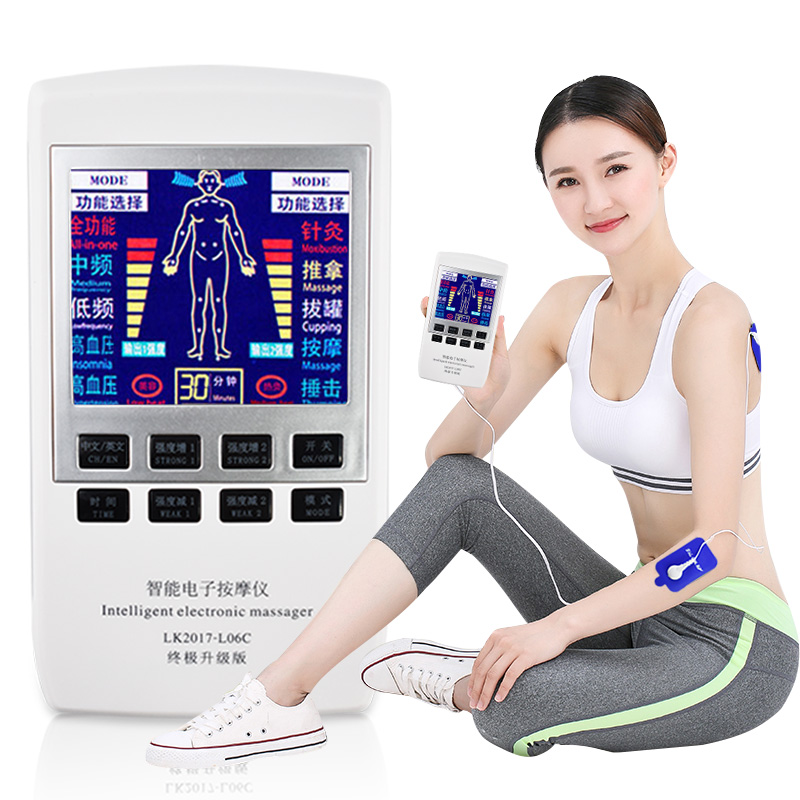Zehn EMS Muscle Stimulator Multi-Funktion Elektrische Massage Schröpfen Akupunktur Dual Frequenz Physiotherapie Massage Maschine