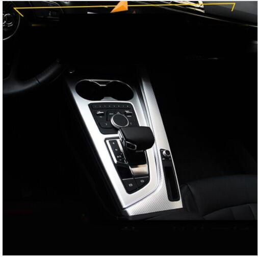 Car styling New Design Car Interior Gear Panel Decorative Frame Trim Cup Holder Decorative For <font><b>Audi</b></font> <font><b>A4</b></font> <font><b>2017</b></font> Auto accessories image