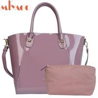MIYACO Bright Leather Handbag Big Women Shoulder Bag Fashion Female Bags Tote Spanish Brand Ladies Top Handle Bag Bolsos