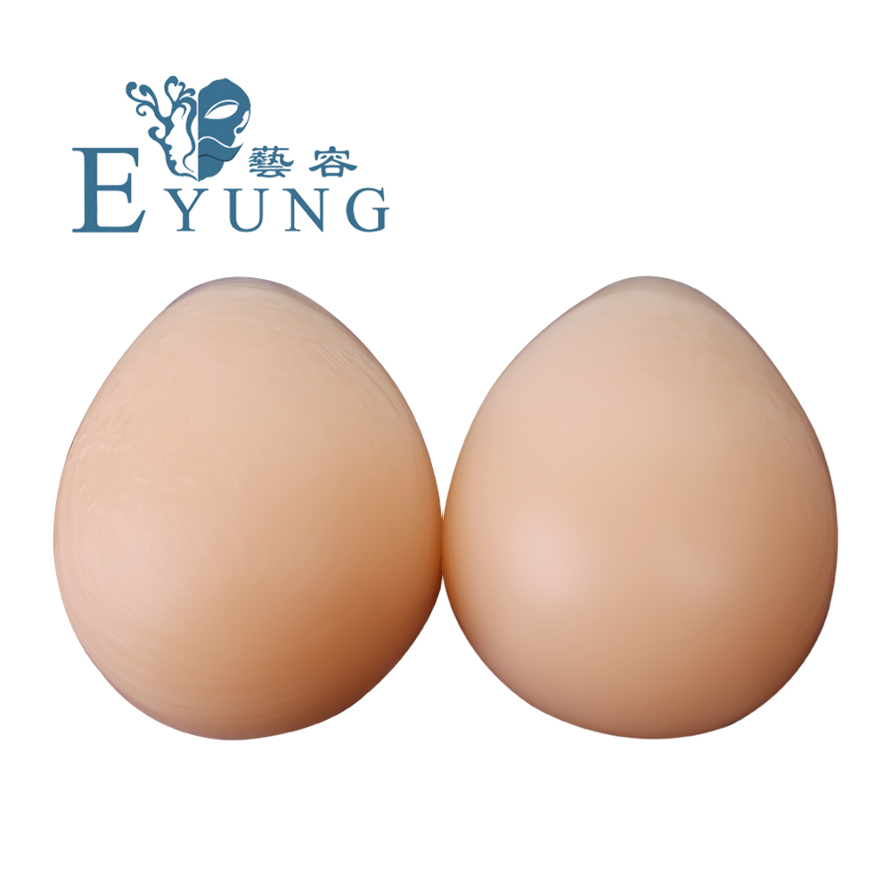 EYUNG 1200g/pair Women Silicone Sexy Gel Invisible Pads Push Up fake boobs breast inserts for crossdresser breast plate