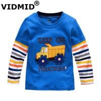 Boys T Shirt Kids Tees Baby Boy Brand Tshirts Children Blouses Long Sleeve 100 Cotton Cars