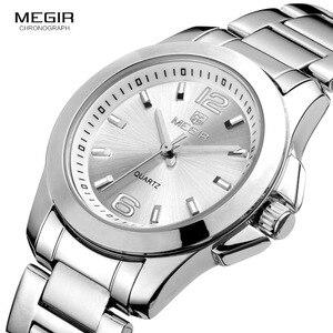Image 1 - Women Couple Dress Wrist Watches Steel Simple Relogios Feminino Clock Woman Montre Femme Quartz Ladies Watch for Lovers MS5006L