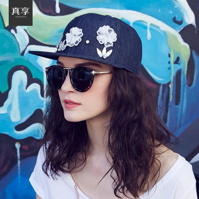 Леди весной и летом Корейской моды хлопок джинсовые женские Бейсбол Cap Hat фуражке плоским вдоль открытый прилив B-1535