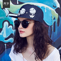 Lady spring and summer  Korean fashion cotton denim female Baseball Cap Hat peaked cap flat along the outdoor tide  B-1535