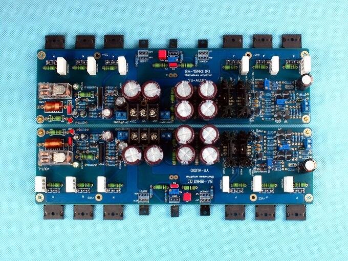 KSA100 150W * 2 2.0 channel DIY fever class AB Toshiba C5200 / A1943 pure power amp board krell ksa100 c5200 a1943 260w 2 class ab power amplifier board