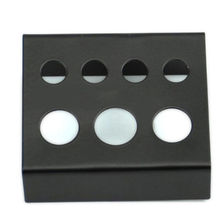High Quality Professional Black Stainless Steel Tattoo Ink Cup Bracket Pigment Cap Holder Stand 7 Holes Supply Wholesale